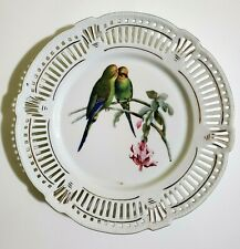 """Bavaria reticulated Parrot / Tropical bird plate 9.75"""""""