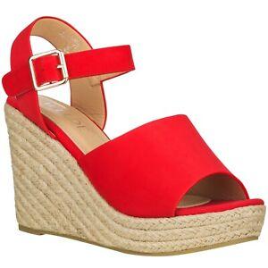 [NEW] ILLUDE Women's Wedge Sandals Open Toe Ankle Strap Espadrille Platform Heel