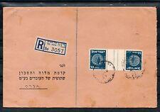 Israel Scott #21 Coins Tete Beche Gutter Pair on Bank Cover!!
