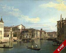 VENICE ITALY GONDOLA BOATS SCENIC SHIPS SEASCAPE ART PAINTING REAL CANVAS PRINT