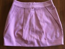 BETTINA LIANO BNWT Musk Lolly Pink Woven Stretch Cotton Mini Skirt RRP $229 8