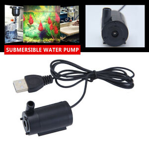 USB 1 Meter 5V Black Mini Submersible Pump Cable Mute Small Water Pump Tool