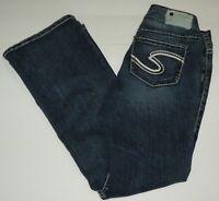 Silver Suki Denim Blue Jeans Size 28 X 30 Boot Cut Medium Wash