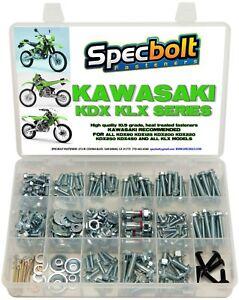 Bolt Kit Kawasaki KDX KLX 175 200 220 225 250 KLR 110 Plastics body frame