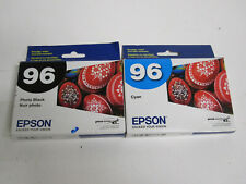 Lot of 2 Genuine EPSON Black & Cyan T096120 T096220 for R2880 Stylus Photo