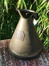 Vintage Large Metal Indian Oil Can Jug Pot Pourer 2 Litre Classic Car Garage
