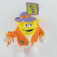 "9"" M&M Yellow Scarecrow Halloween Costume Plush Stuffed Toy"