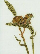HERITAGE CRAFTS HARVEST MICE COUNTED CROSS STITCH KIT PETER UNDERHILL DARLINGS