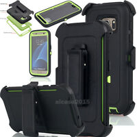 For Samsung Galaxy S7 Case Cover With Screen Protector and Belt Clip Holster