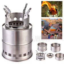 Outdoor Wood Stove Collapsible Backpacking Portable Burning Camping Cook Stoves