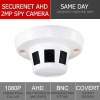 Securenet HD-S220 1080P Sony 2MP HD Covert CCTV Smoke Detector 3.6mm