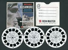 GAF View-Master Packet MOUNT RUSHMORE NATIONAL MEMORIAL, SD, #A487, style G1