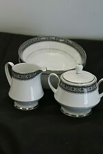 Lot of 4 Noritake Segovia Dinnerware Pieces Sugar & Creamer w/ 2 Serving Bowls