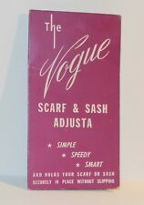 Vintage 1960s Vogue Scarf & Sash Adjusta On Original Card