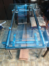 Clear Glass Extending Dining Table L140-200cm STOCKPORT (Table Only)