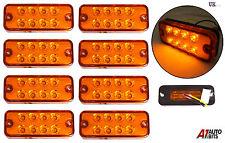 8x 24v 8 LED Lateral Marcador Naranja Ámbar LUZ PARA EL CARRO MAN DAF SCANIA