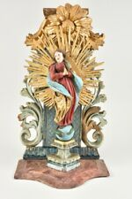 i99o38- Hausaltar mit Madonna Immaculata, Holz geschnitzt, 18./19.Jh