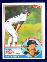 1983 TOPPS BASEBALL WADE BOGGS ROOKIE CARD #498 HOF