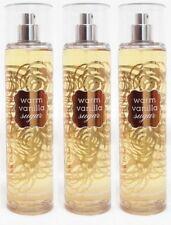 3 Bath & Body Works WARM VANILLA SUGAR Fine Fragrance Mist Spray