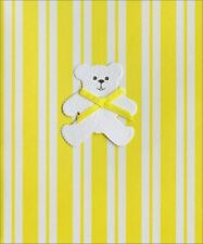 Bear with Yellow Bow New Baby Card - Greeting Card by Freedom Greetings
