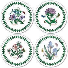 Pimpernel Botanic Garden Round Coasters Drink Mats Set of 4 Floral Flowers New