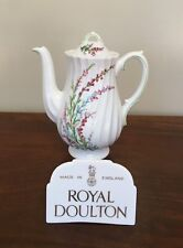 Royal Doulton BELL HEATHER SCALLOPED 3-Cup Mini Coffee Pot & Lid