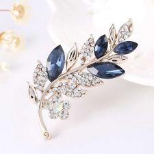 Sale Leaf Pattern Brooch Fashion Jewelry Wedding Bridal Pin Garment Decoration