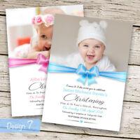 Christening Baptism Invitations Boy or Girl Personalised Design 7