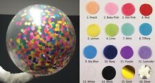 Confetti Balloon Round 90cm Qualatex Giant Choose Any Colours You Like