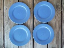 FURIO Home Blue Salad Luncheon Plates Set of 4 Rosanna Italy 8-1/2 Bread Butter