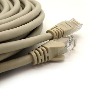 RJ45 Cat6 Ethernet Cable Network LAN PC Gaming Patch Lead 10gbps 1m - 50m Lot UK