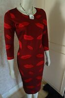 LOVE LABEL LIPSTICK RED BODYCON DRESS SIZE 10 & 12 IN STOCK CLEARANCE