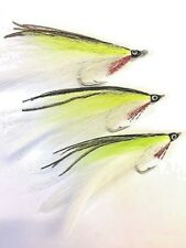 6 Salt Water Lefty Kreh Chartreuse Deceiver flies