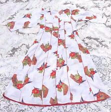 VINTAGE 1970's ASIAN INSPIRED SATINY FLOWER PRINT DRESS SMALL / MED