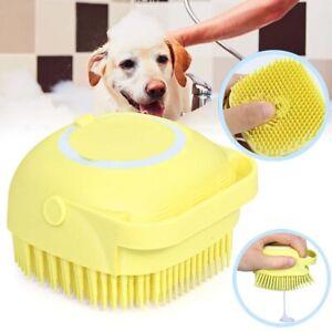 Pet Dog Shampoo Brush Cat Massage Comb Grooming Scrubber Brush Silicone Brushes