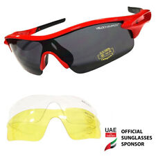 VeloChampion Warp Red Cycling Running Sports Sunglasses (with 3 lenses)
