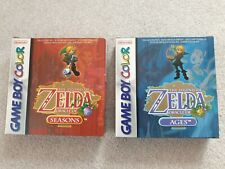 The Legend of Zelda Oracle of Seasons + Oracle of Ages (Game Boy C) - PAL CIB