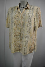 Canda Bluse Gr.46 beige mit Muster TOP*155