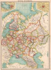 La Russia in Europa. Caucasia LIVONIA Curlandia. S. PIETROBURGO; Mosca??? 1901 Mappa