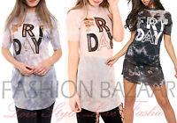 Womans Sheer Lurex Mesh T Shirt Mini Dress Friday Party Holiday Long TShirt Top