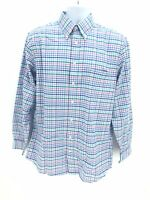 Stafford Travel Fitted Long Sleeve Button Up Shirt Mens Large Plaid Multicolored