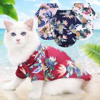 Pet Cat V Neck Dog Shirt T-shirt Short Sleeve Pet Clothes Small Dog Dog Clothes