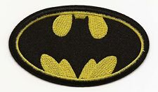 Black & Yellow Batman Embroidered Patch Iron-on Art Good Luck Charm