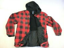 Puritan Lined Red Buffalo Plaid Hooded Zip-Up Jacket - Men's Size XL Tall 46/48