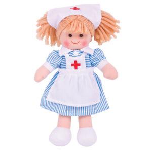 Bigjigs Toys Nurse Nancy Doll - SMALL Ragdoll Cuddly Toy
