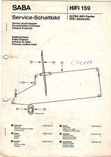 Saba Original Service Manual for Ultra HiFi Center 9941 Electronic