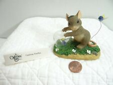 Charming Tails Catching Fireflies Mouse Figurine 83/102 Fitz and Floyd Boxed