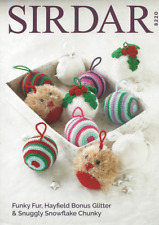 Sirdar 8220 Knitting Crochet Pattern Christmas Decorations in Bonus Glitter DK