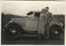 PHOTO ANCIENNE - VINTAGE SNAPSHOT - VOITURE TACOT AUTOMOBILE COUPLE - CAR LOVERS