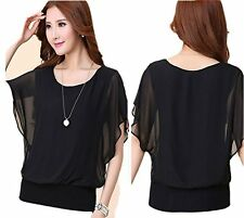 New Korean Casual Summer Short Sleeve T-shirt Loose Women's Chiffion Blouse Tops